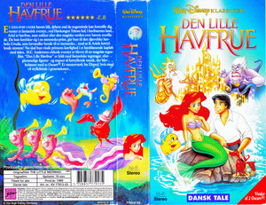 Walt Disney Classics VHS Covers - The Little Mermaid (Danish Version)