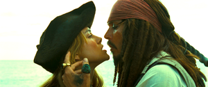 Walt disney Live-Action Screencaps - Elizabeth Swann & Captain Jack Sparrow
