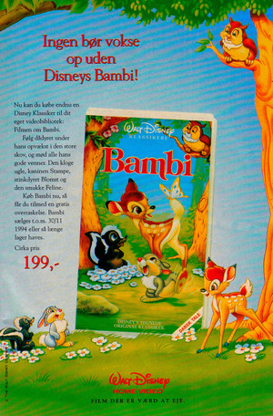 Walt Disney Promotional Ads - Bambi