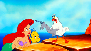 Walt Disney Screencaps - Princess Ariel, flunder & Scuttle