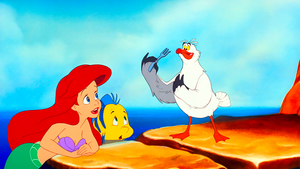 Walt Disney Screencaps - Princess Ariel, Flounder & Scuttle