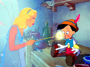 Walt Disney Screencaps - The Blue Fairy & Pinocchio