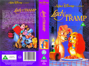 Walt Disney Classics VHS Covers - Lady and the Tramp (UK Version)