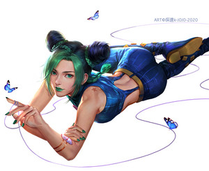 jolyne with butterflies