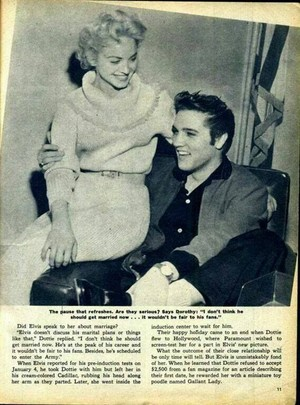 Clipping Pertaining To Elvis Presley And Dottie Harmony