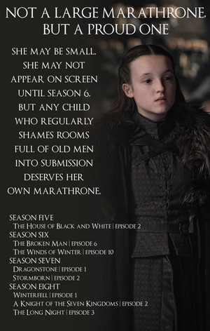 Alternate Iron Anniversary MaraThrone: Not A Large MaraThrone, But A Proud One [Lyanna Mormont]