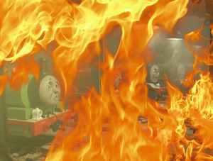 Diesel 10 blows up Tidmouth Sheds! (8)
