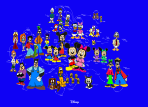 Disney's Mickey and his Family and Friends. And Rival and Couple too.