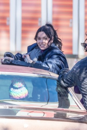 "Hailee Steinfeld on the set of ""Hawkeye"""