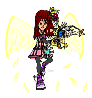 KH Fanart Kairi Princess of ハート, 心 Badass Style Heaven (Useful) Strong Heart.