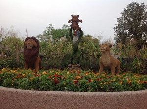 Lion king statue at Walt ディズニー world Epcot