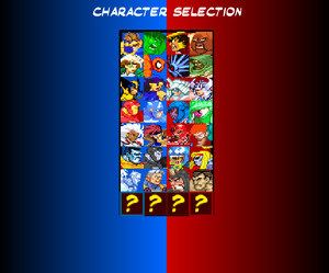 Marvel Tribute Game (Character Screen)