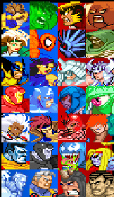 Marvel Tribute Game (Character Select Screen)