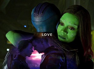 Nebula and Gamora || Avengers || What is grief, if not Любовь persevering ♡