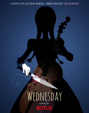 Tim Burton's Wednesday - Teaser Poster