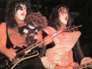 Paul and Ace ~Tokyo, Japan...March 31, 1978 (ALIVE II Tour)
