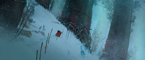 Raya and the Last Dragon - Land of Spine Concept Art por Cory Loftis