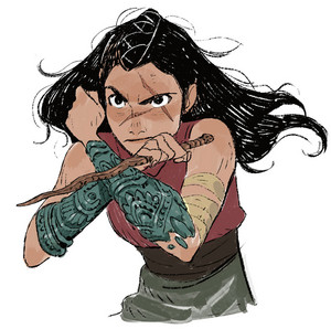 Raya and the Last Dragon - Raya Concept Art sa pamamagitan ng Ami Thompson