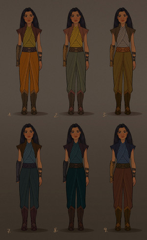 Raya and the Last Dragon - Raya Concept Art por Neysa Bove