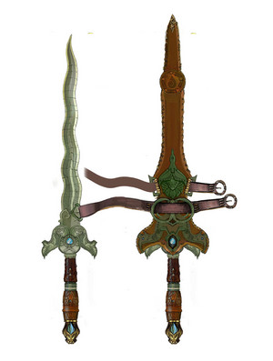 Raya and the Last Dragon - Raya's Sword Concept Art por Mehrdad Isvandi
