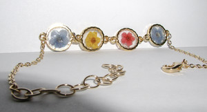 Real Pressed blume Bracelet