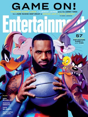 l'espace Jam: A New Legacy - Entertainment Weekly Cover