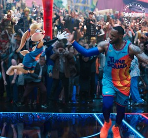 Space Jam: A New Legacy - First Look Photo - Lola Bunny and LeBron James