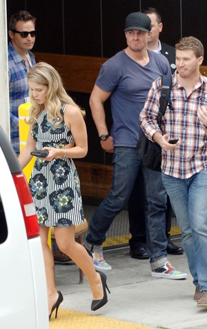 Stephen Amell and Emily Bett Rickards Arrive at the San Diego Comic-Con, July 20th 2013