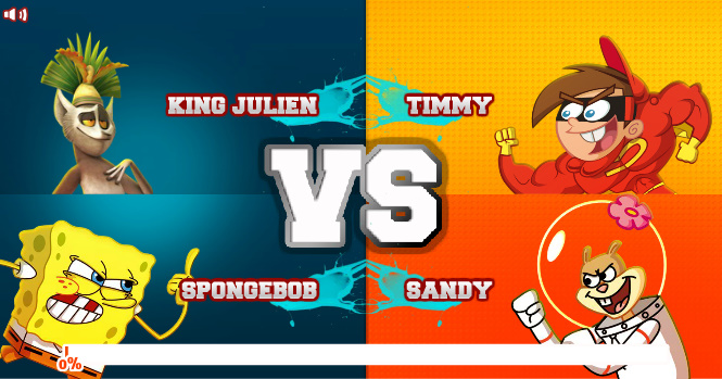 Super Brawl 2 (King Julien and SpongeBob vs Timmy and Sandy)