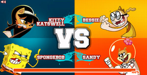 Super Brawl 2 (Kitty Katswell and SpongeBob vs Bessie and Sandy)