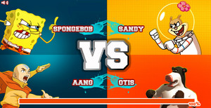 Super Brawl 2 (SpongeBob and Aang vs Sandy and Otis
