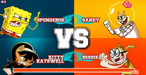 Super Brawl 2 (SpongeBob and Kitty Katswell vs Sandy and Bessie)