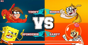 Super Brawl 2 (Timmy and SpongeBob vs Bessie and Sandy)
