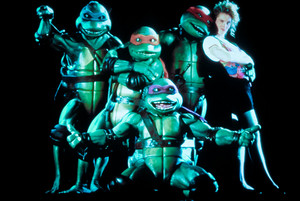 TEENAGE MUTANT NINJA TURTLES. 1990. Leonardo. Michelangelo. Donatello. Raphael. April O'Neil.