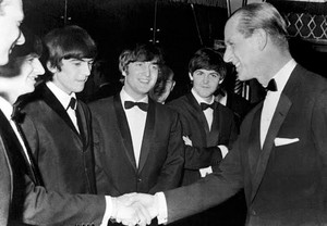 The Beatles and Prince Philip (R.I.P)