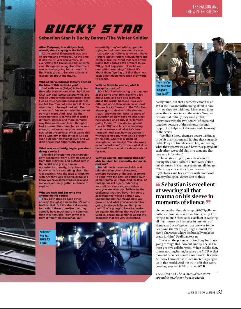 The Falcon and The Winter Soldier || SFX Magazine article