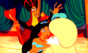 Walt Disney Screencaps - Jafar, Iago, Princess Jasmine & The Sultan