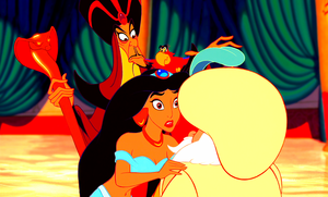 Walt Disney Screencaps - Jafar, Iago, Princess gelsomino & The Sultan