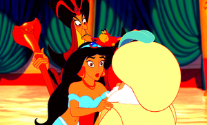 Walt Disney Screencaps - Jafar, Princess Jasmine, Iago & The Sultan