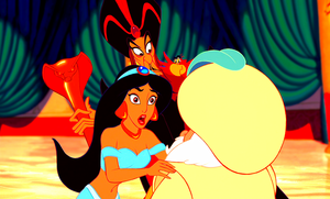 Walt Disney Screencaps - Princess Jasmine, Jafar, Iago & The Sultan
