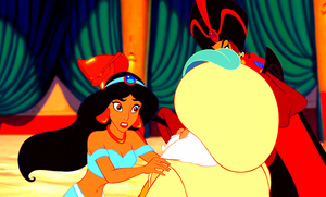 Walt Disney Screencaps - Princess Jasmine, The Sultan, Jafar & Iago