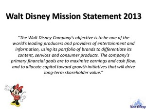Walt Disney Mission Statement 2013