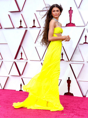 Zendaya At the 93rd Annual Academy Awards at Union Station in Los Angeles || April 25, 2021