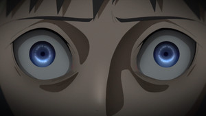 kawaki's scared eyes