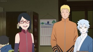sarada and mitsuki and naruto