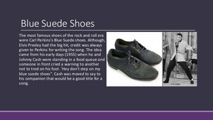 The History Of The Blue Suede Shoes