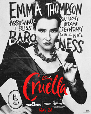 Cruella (2021) Character Poster - Emma Thompson as The Baroness
