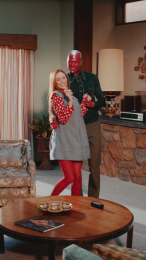 Vision and Wanda || WandaVision || 1.03 || Now In Color