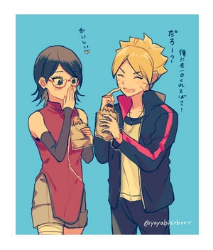 sarada and boruto